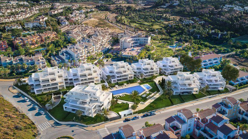 Cortijo del Golf, apartamentos y áticos en El Campanario, Estepona