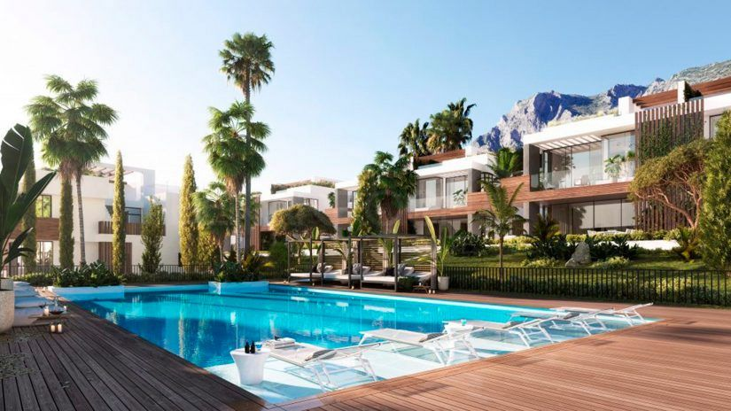 Le Blanc, new project of semi-detached villas in Sierra Blanca, Marbella
