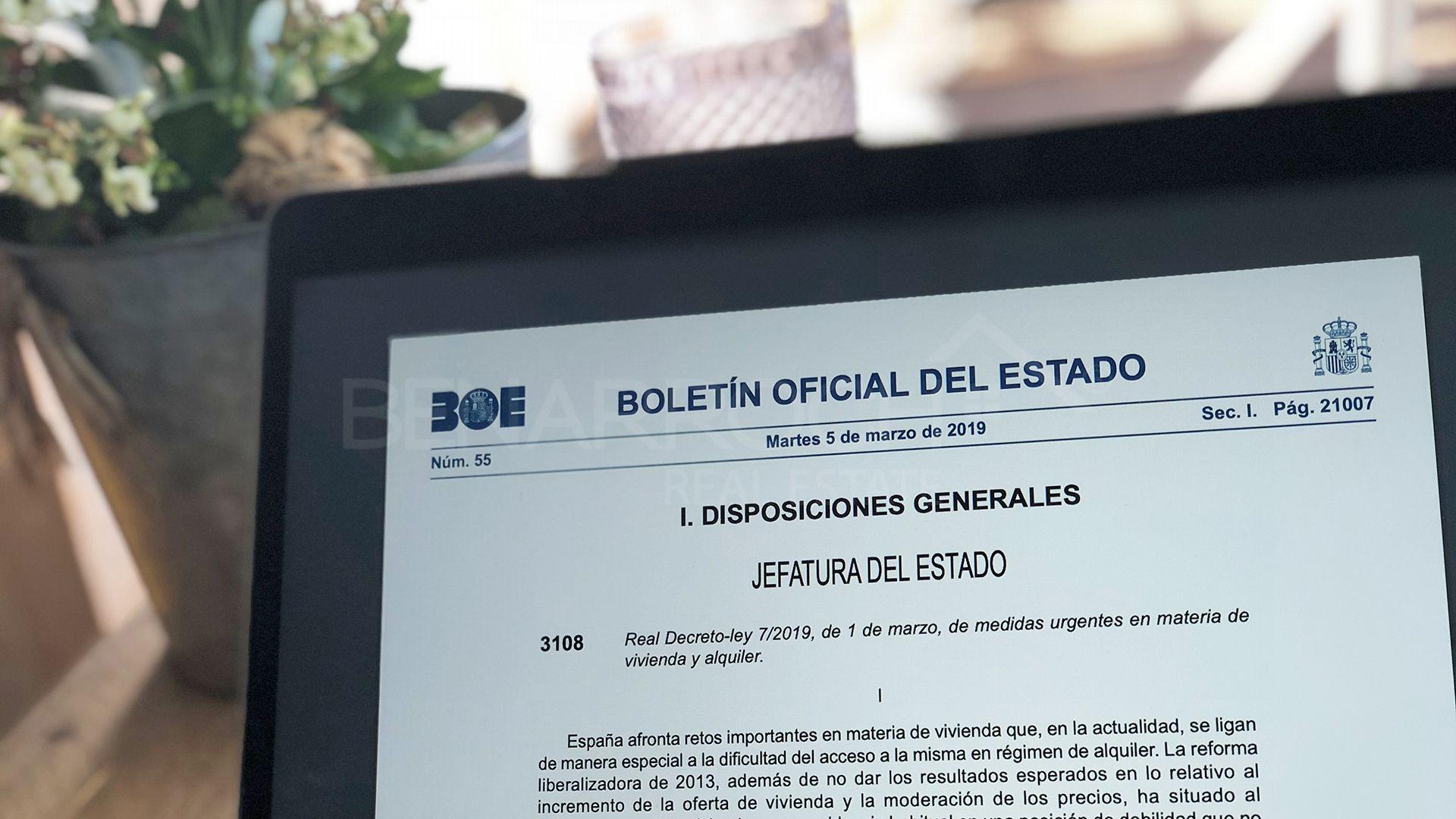 ley 2019 de arrendamientos urbanos